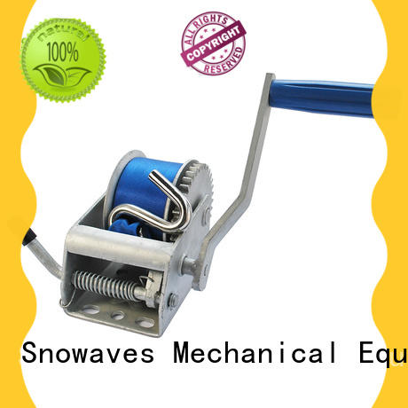 Snowaves Mechanical Wholesale manual trailer winch Suppliers for camping