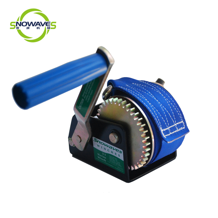 Snowaves Mechanical Custom boat hand winch factory for outings-1