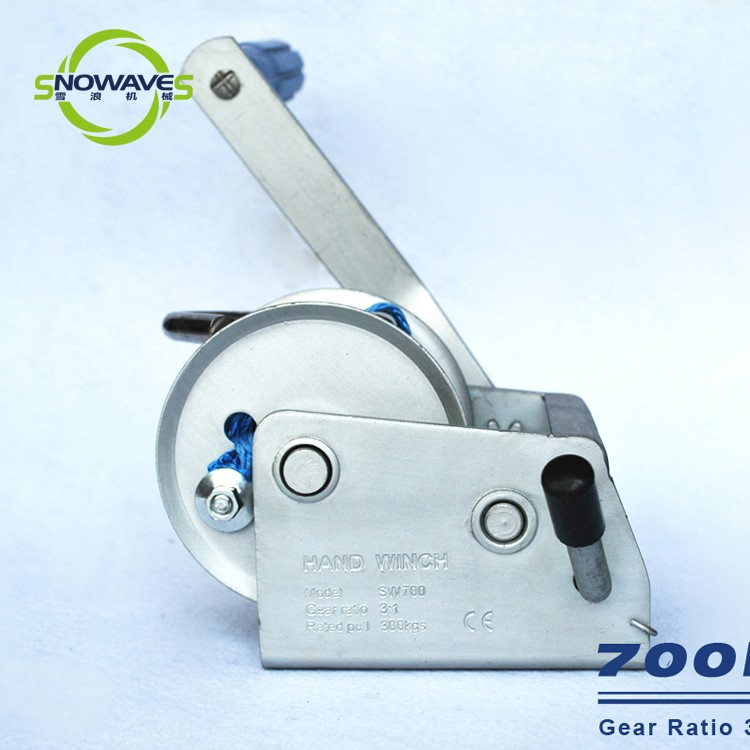 Snowaves Mechanical Custom boat hand winch factory for outings-6