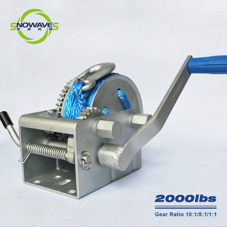 Trailer hand winch 10:1/5:1/1:1(3 speed) 1000kg pulling SW2000-4
