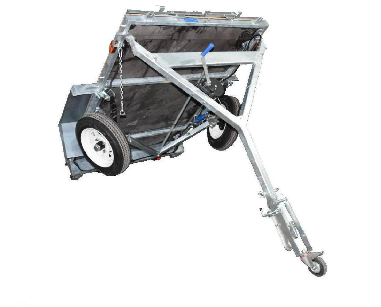 Top foldable trailer forward supply for one-way trips-1
