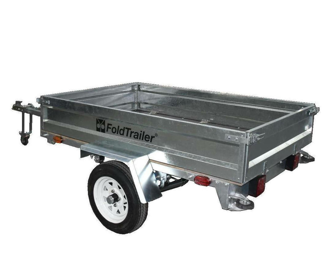 Top foldable trailer forward supply for one-way trips-3