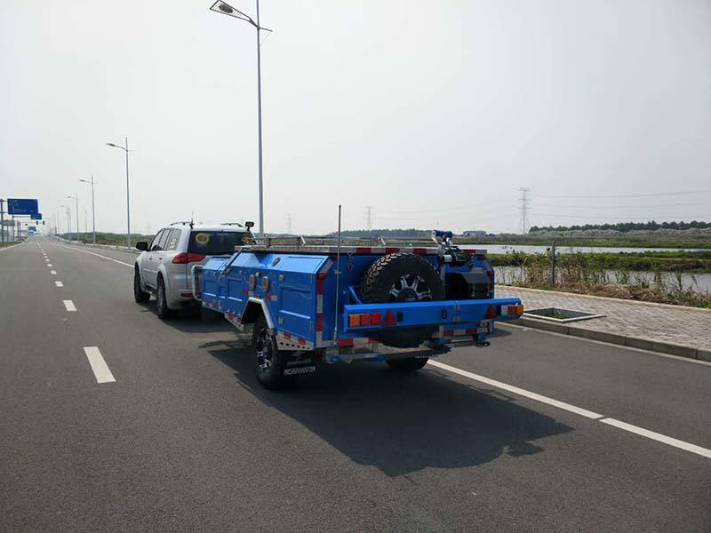 Snowaves Mechanical High-quality fold up trailer for sale for accident-1