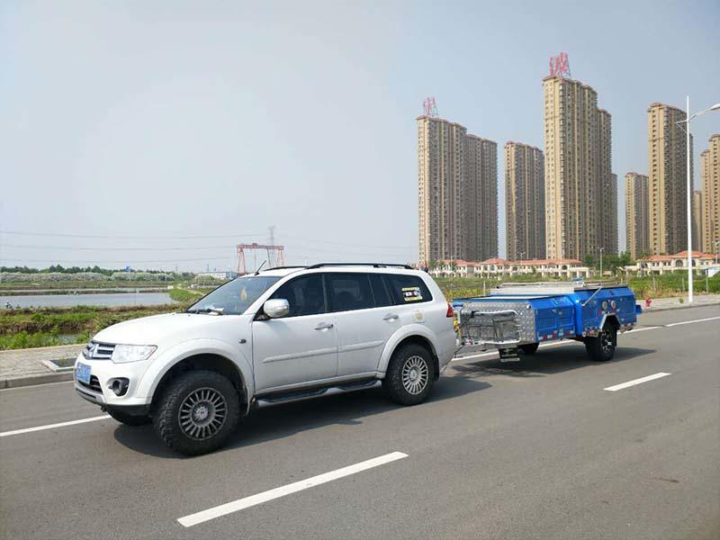 Snowaves Mechanical High-quality fold up trailer for sale for accident-2