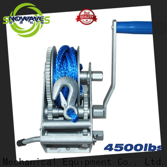 Snowaves Mechanical single marine winch suppliers for trips