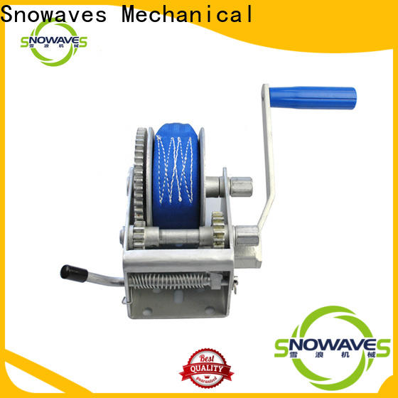 Snowaves Mechanical Top manual trailer winch manufacturers for camping