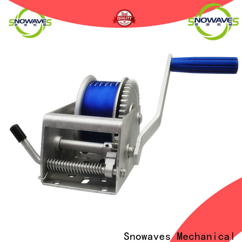 Snowaves Mechanical New marine winch factory for trips