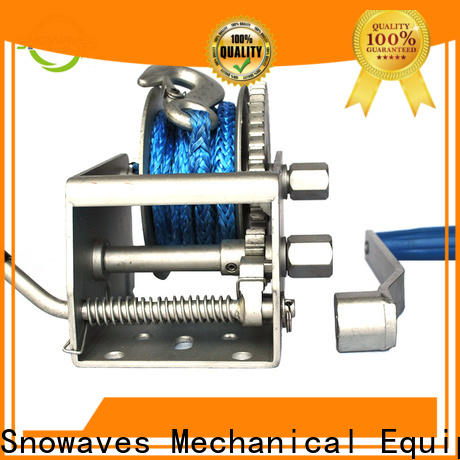 Snowaves Mechanical hand marine winch suppliers for picnics