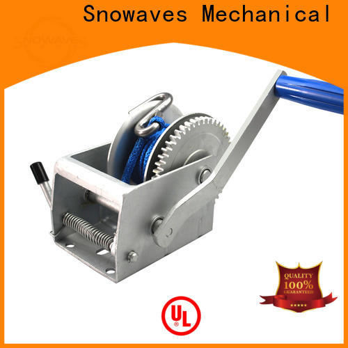 Snowaves Mechanical speed manual winch suppliers for car