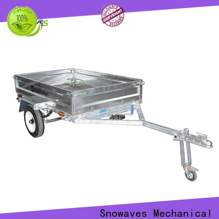 Snowaves Mechanical Top folding trailers for business for accident