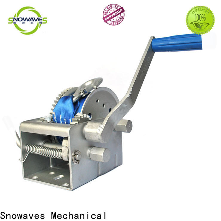 Snowaves Mechanical Custom marine winch for sale for camping