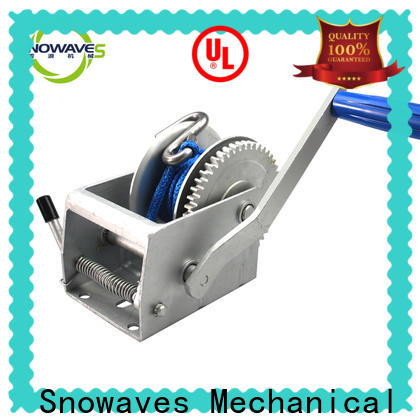 Snowaves Mechanical Wholesale manual trailer winch factory for camping