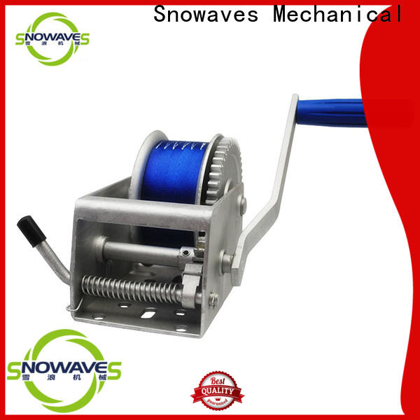 Snowaves Mechanical hand marine winch suppliers for camping