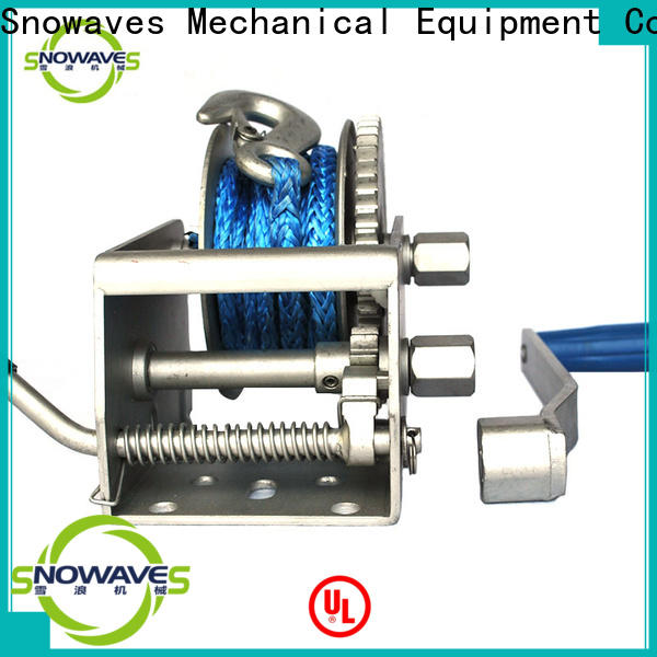 Snowaves Mechanical Top marine winch for business for camp