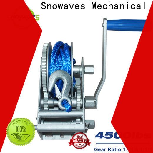 Snowaves Mechanical Latest marine winch supply for picnics