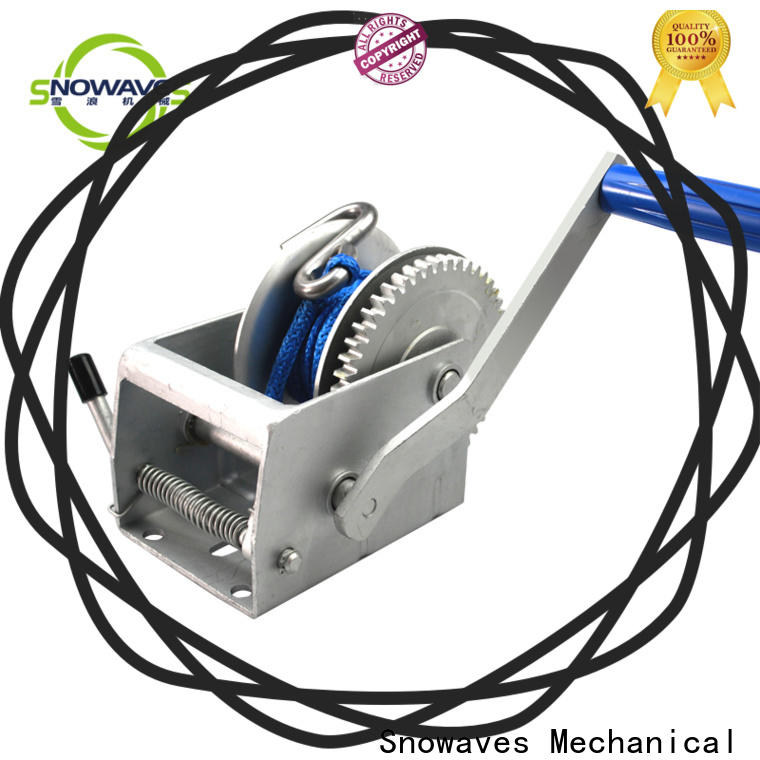 Snowaves Mechanical pulling manual trailer winch company for boat