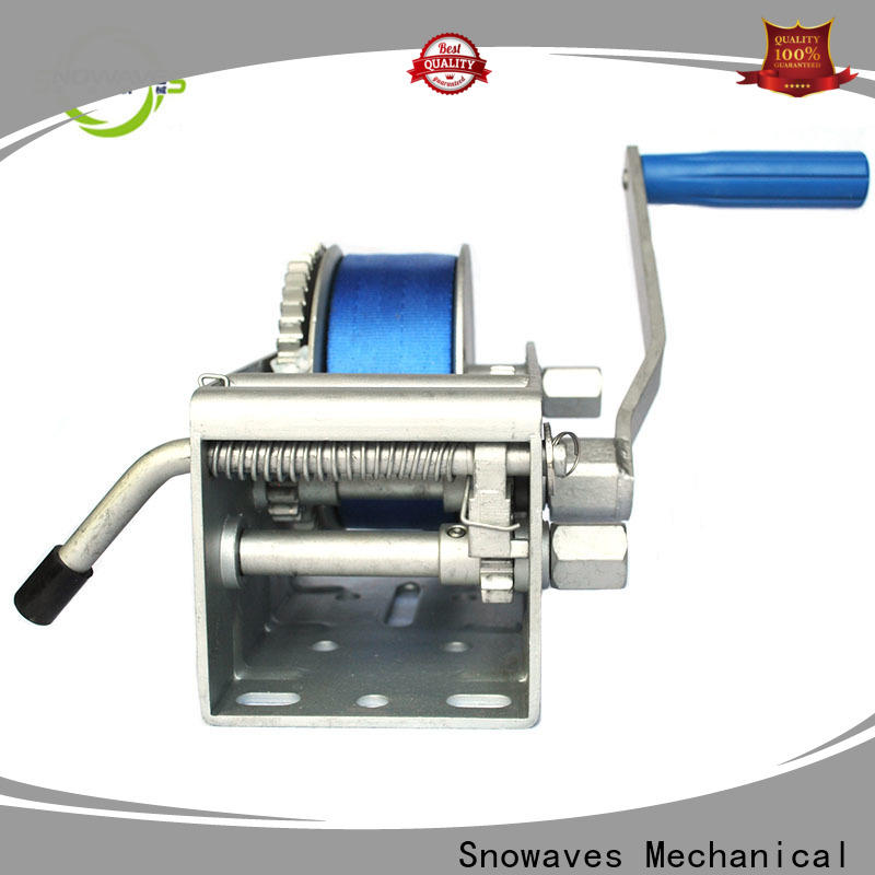 Snowaves Mechanical Latest marine winch manufacturers for camp