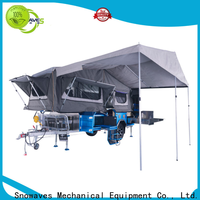 Snowaves Mechanical quality fold up trailer manufacturers for camp