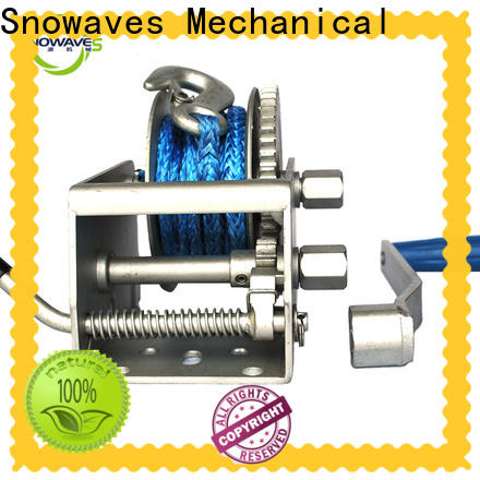 Snowaves Mechanical trailer marine winch company for camp