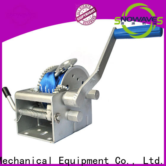 Snowaves Mechanical marine winch factory for trips