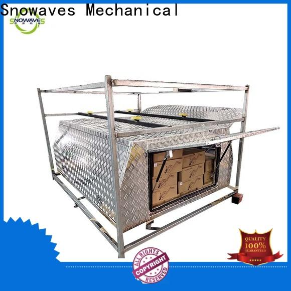 Snowaves Mechanical aluminium aluminum truck tool boxes suppliers for camping