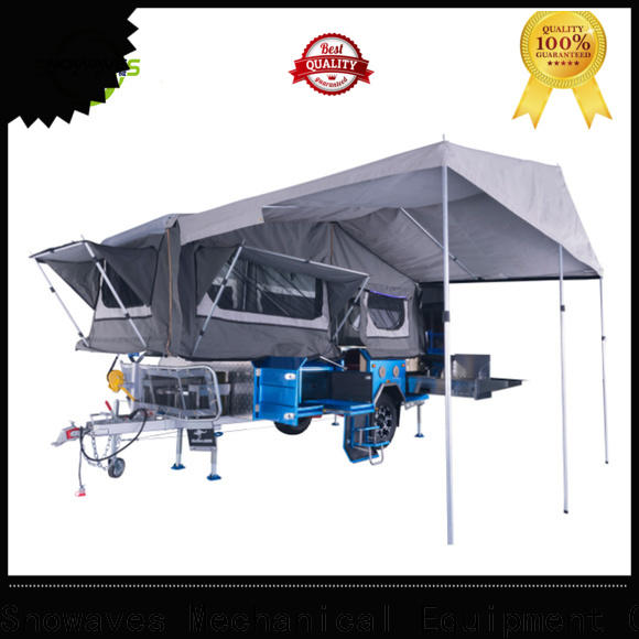Snowaves Mechanical forward folding trailers company for accident