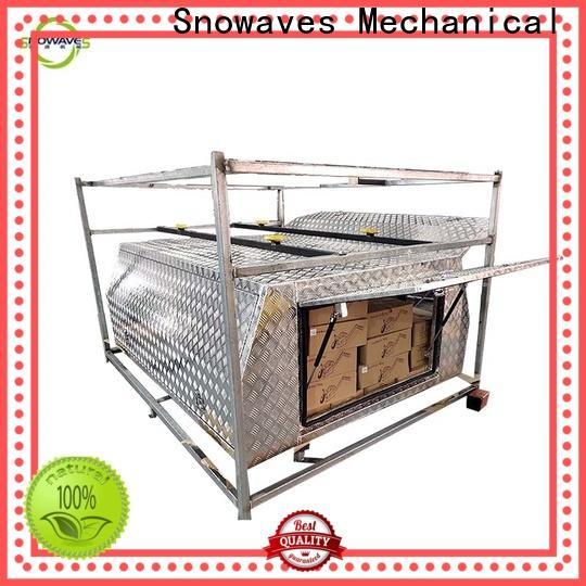 Snowaves Mechanical Custom aluminum trailer tool box factory for picnics