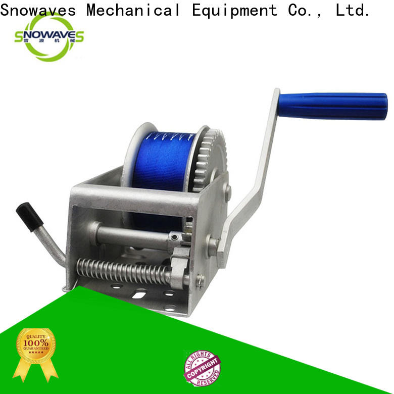 Snowaves Mechanical single marine winch supply for trips