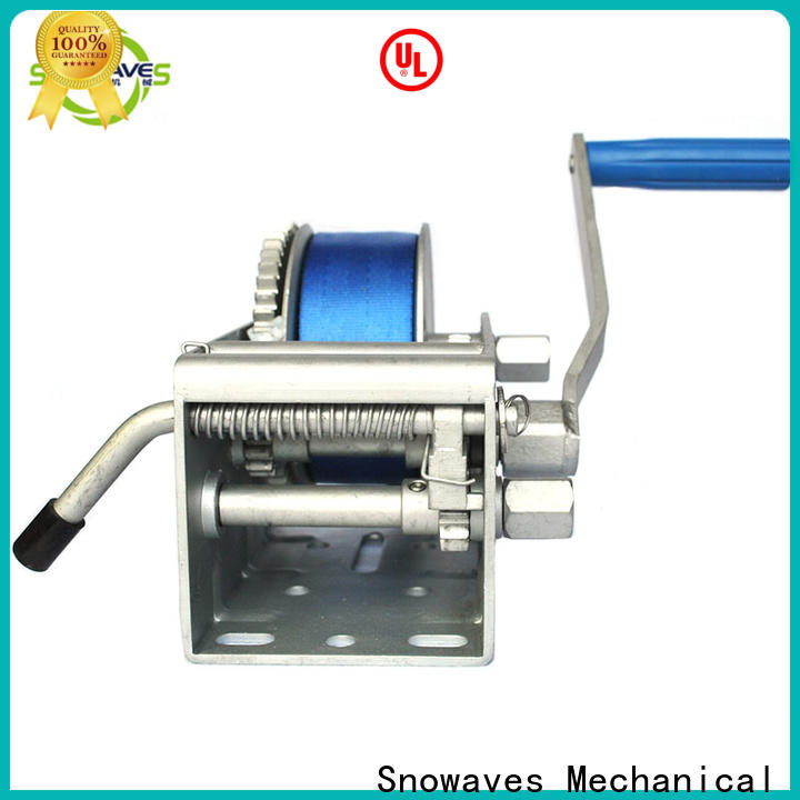 Snowaves Mechanical trailer marine winch suppliers for picnics