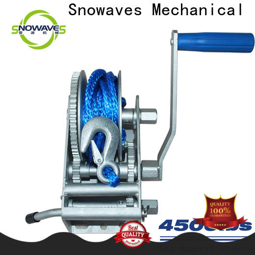 Snowaves Mechanical trailer marine winch manufacturers for camping