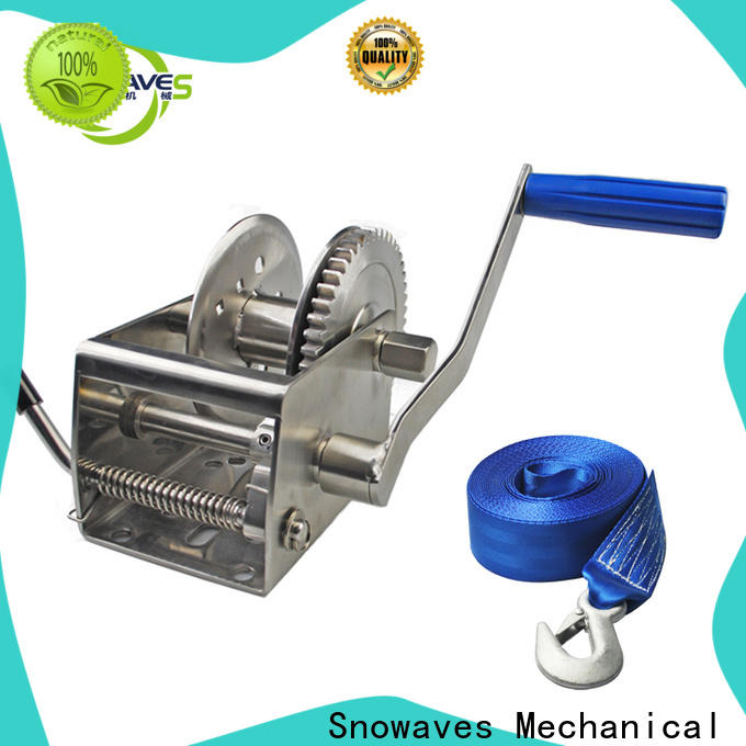 Snowaves Mechanical High-quality marine winch manufacturers for camping
