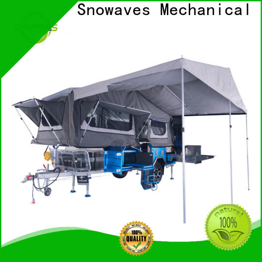 Snowaves Mechanical folding trailers suppliers for camp