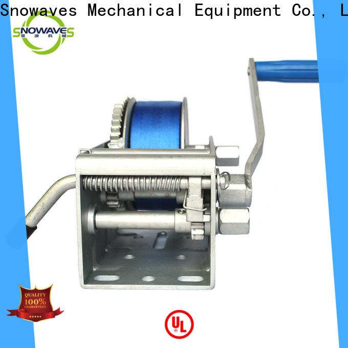 Snowaves Mechanical trailer marine winch company for camp