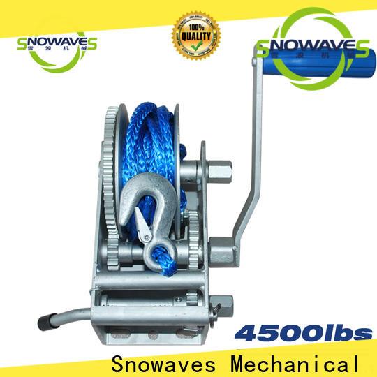 Snowaves Mechanical Best marine winch company for picnics