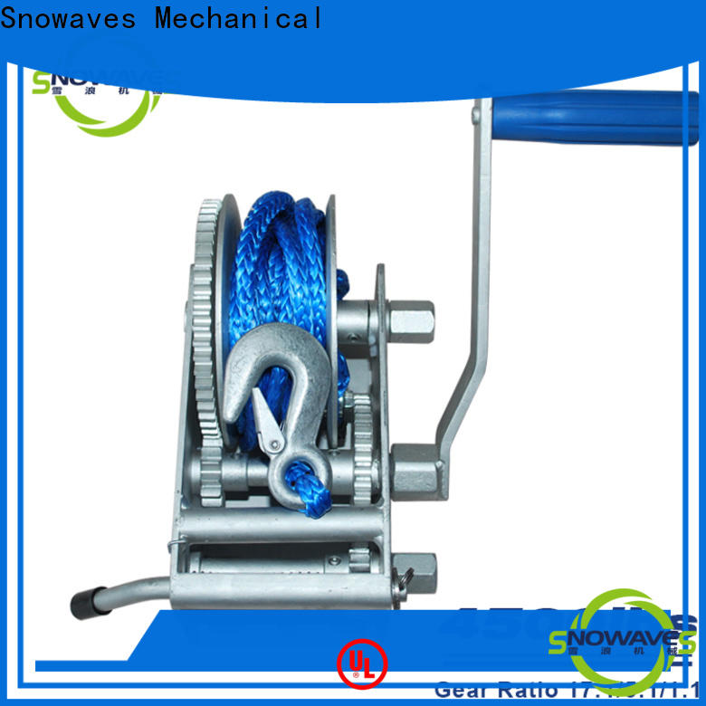 Snowaves Mechanical New marine winch for business for camping