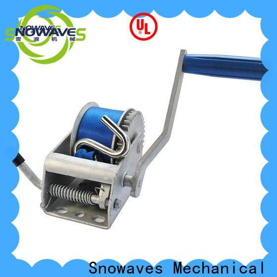 Snowaves Mechanical Custom hand winches factory for camping