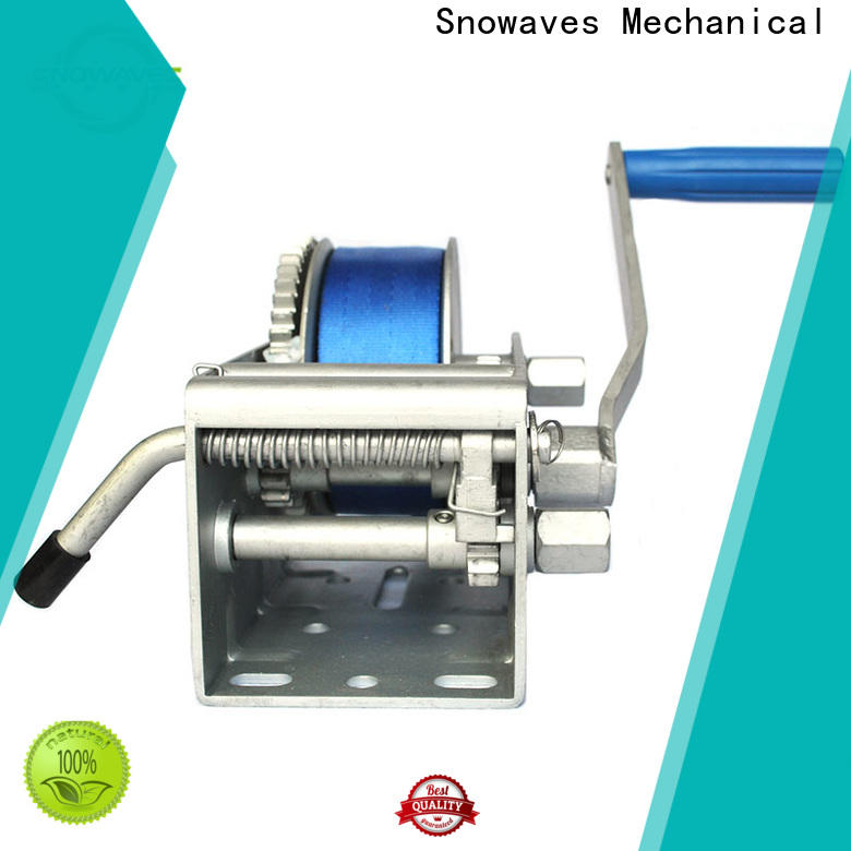 Snowaves Mechanical Latest marine winch for business for camping