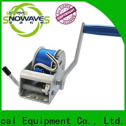 Snowaves Mechanical Custom manual winch company for picnics