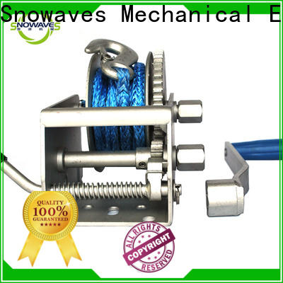 Snowaves Mechanical Custom marine winch manufacturers for camping