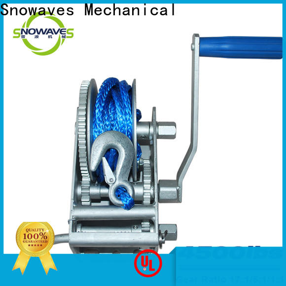 Snowaves Mechanical New marine winch factory for camp