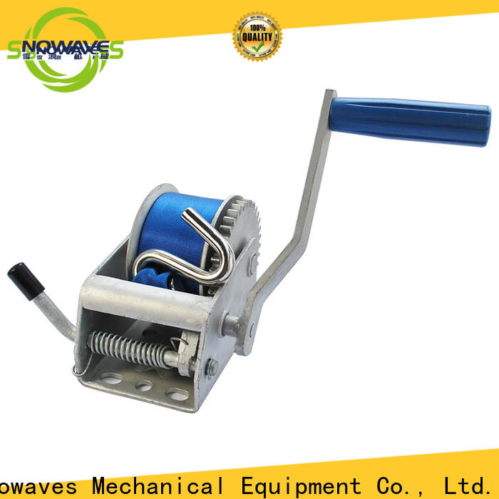 Snowaves Mechanical Custom boat hand winch factory for outings