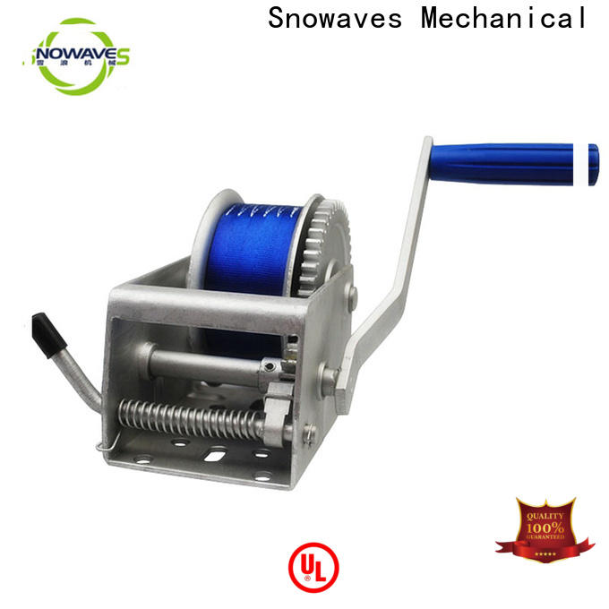 Snowaves Mechanical marine winch suppliers for camping