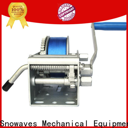 Snowaves Mechanical Latest marine winch factory for trips