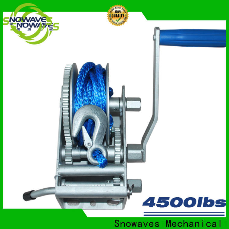 Snowaves Mechanical trailer marine winch factory for camping