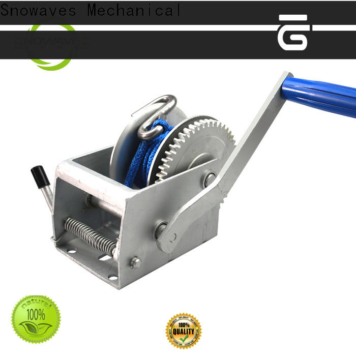 Snowaves Mechanical speed boat hand winch manufacturers for camping