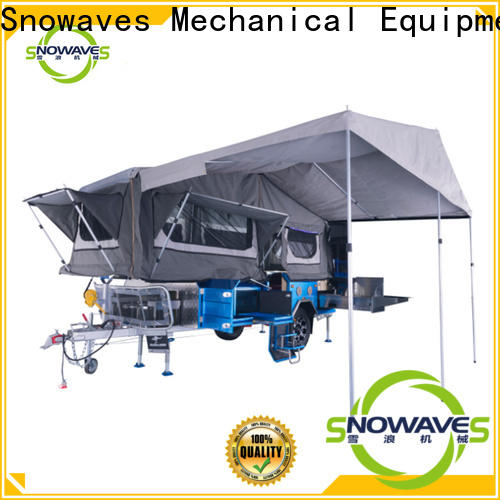 Snowaves Mechanical folding foldable trailer factory for accident
