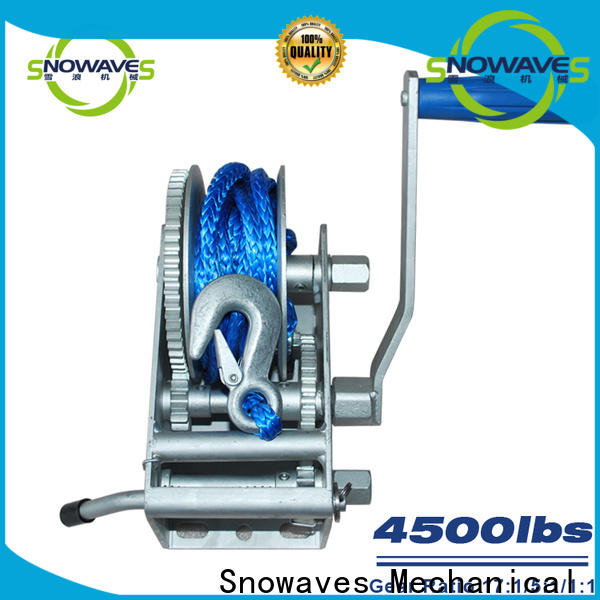 Snowaves Mechanical speed marine winch company for camping