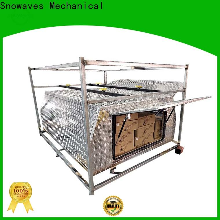 Snowaves Mechanical pickup aluminum trailer tool box manufacturers for camping