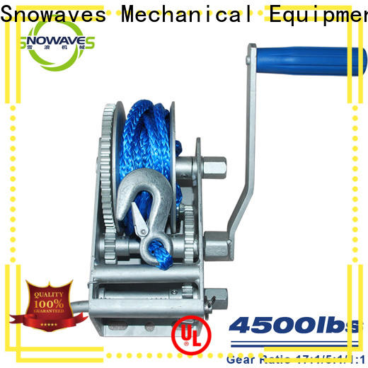 Snowaves Mechanical speed marine winch factory for camp