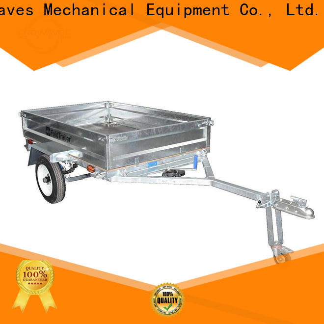 Snowaves Mechanical data fold up trailer factory for accident